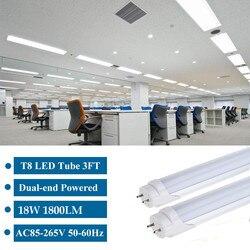 10PCS T8 Light Lamp LED Tube Integrated Wall Tube 18W 120CM 4ft 300mm T8 Led Lights SMD2835 Lighting Cold White AC85-265V