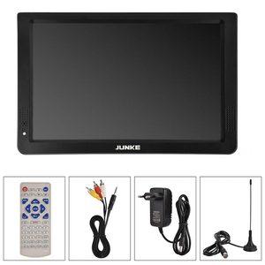 Image 5 - JUNKE taşınabilir dijital ve Analog Led televizyonlar destek TF kart USB ses Video oynatıcı araba TV 12 inç DVB T ve DVB T2