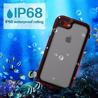 For IPhone 7 7 Plus IP68 Waterproof Luxury Duty Hybrid Cover For IPhone 8 8p X