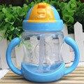 Varejo 280 ml copo de Água Copo de Leite Do Bebê Crianças Formação Alimentar Bebida Palha Lidar com Garrafa de Água Da Escola Saudável Beber Garrafas de Leite