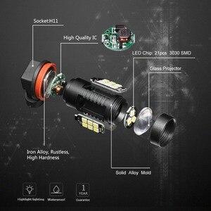 Image 2 - 2個H8 H11 led電球HB4 led電球HB3 9006 9005 smdライト1200LM 6000 18k 12 12vホワイト実行している駆動車のランプ自動車電球