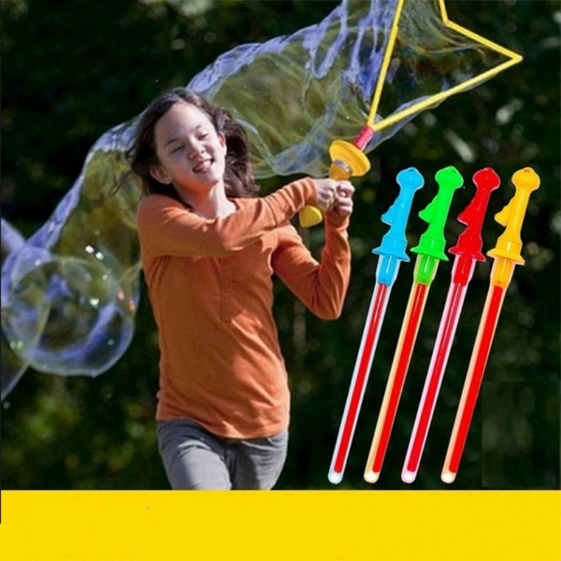 Big Size 46cm Outdoor Toys Long Bubble Machine Gun Bar Sticks Without Water Western Sword Shape For Kids Soap Bubble Toy цена