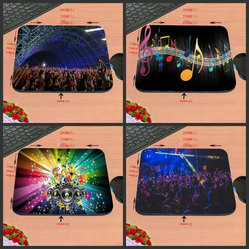 Music symbol Design Anti-slip Durable New Arrival Customized Rectangular Mouse Pad Computer PC Nice Gaming As Gift