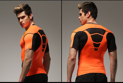 Free shipping men compression t shirt brand tight shirts homme jogger clothing sales new fashion tops.jpg 250x250