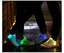 Unisex Led Fiber Optic Glowing Sneakers/USB Recharge