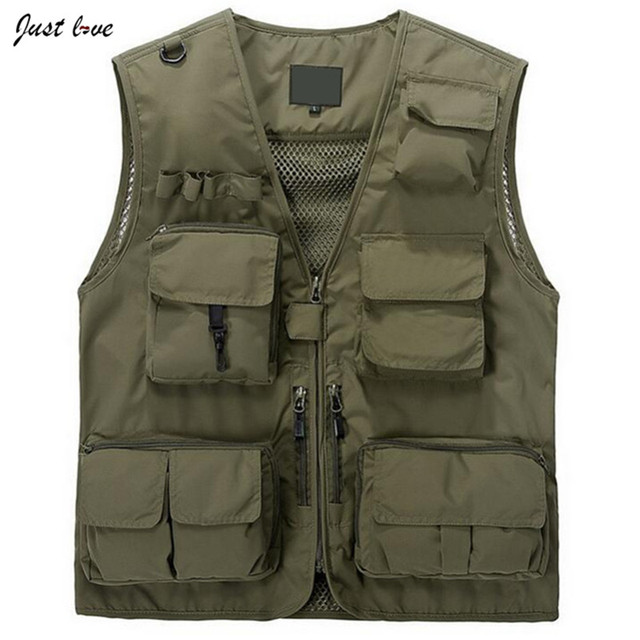 2017 Summer Travels Vests Men's Mesh Vest  Photographer Vests Causal Shooting Vest with Many Pocket  Sleeveless Jacket Waistcoat