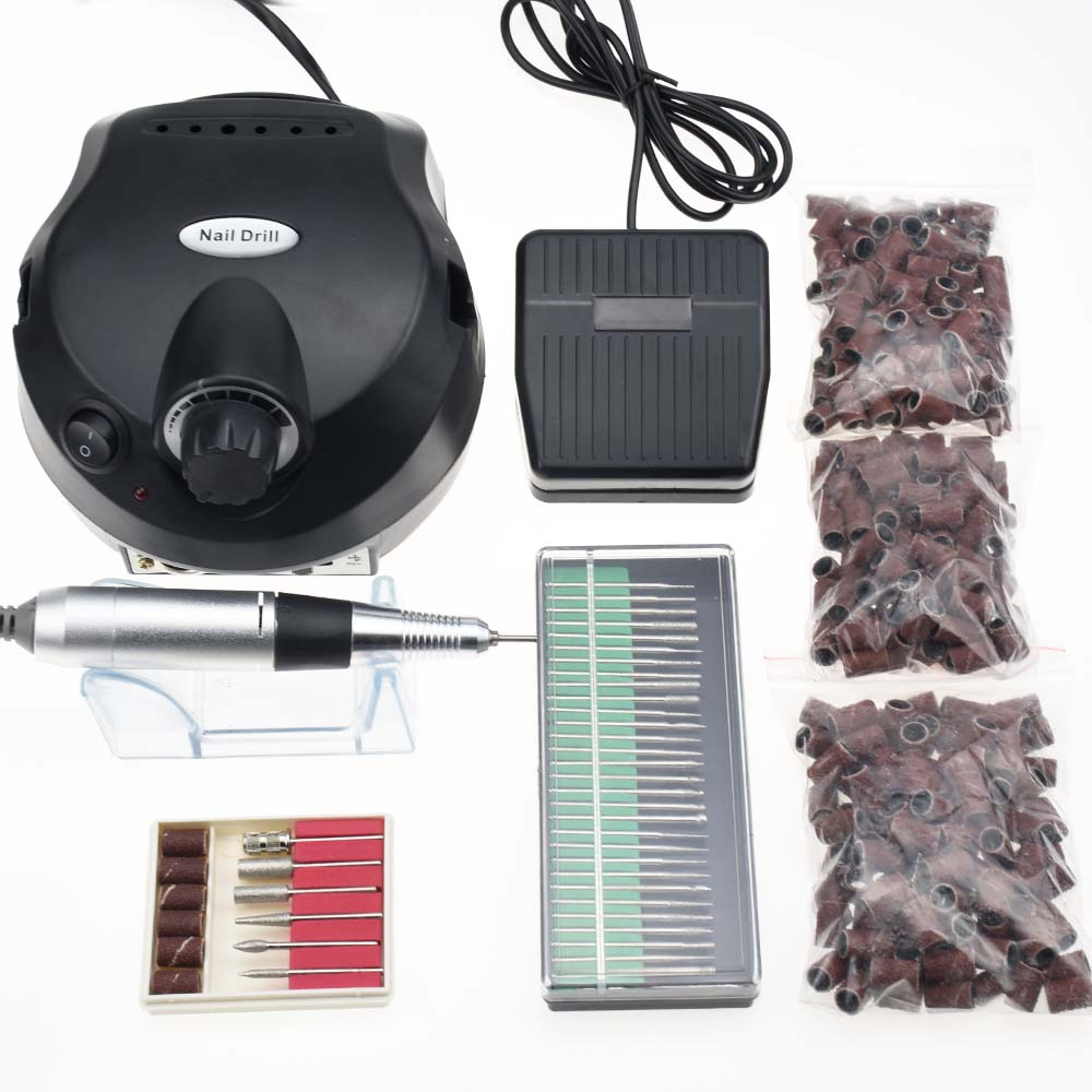 30000 RPM Pro Electric Nail Art Drill Machine Nail Bits Equipment Manicure Pedicure Files Electric Manicure Drill & Accessory new pattern beautiful first charge polish manicure machine portable 30000 high capacity nails drill nail art equipment