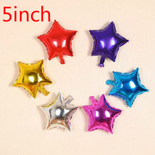 Wholesale 20pcs/lot 5inch star balloon multicolour 5 small cute foil ballon for birthday decoration wedding party supplies