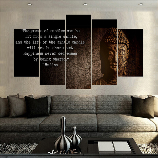 Buddhist Scriptures Buddha Poster Hd Canvas Spray Printing Home Decoration Living Room Paintings Unframed Dropshipping