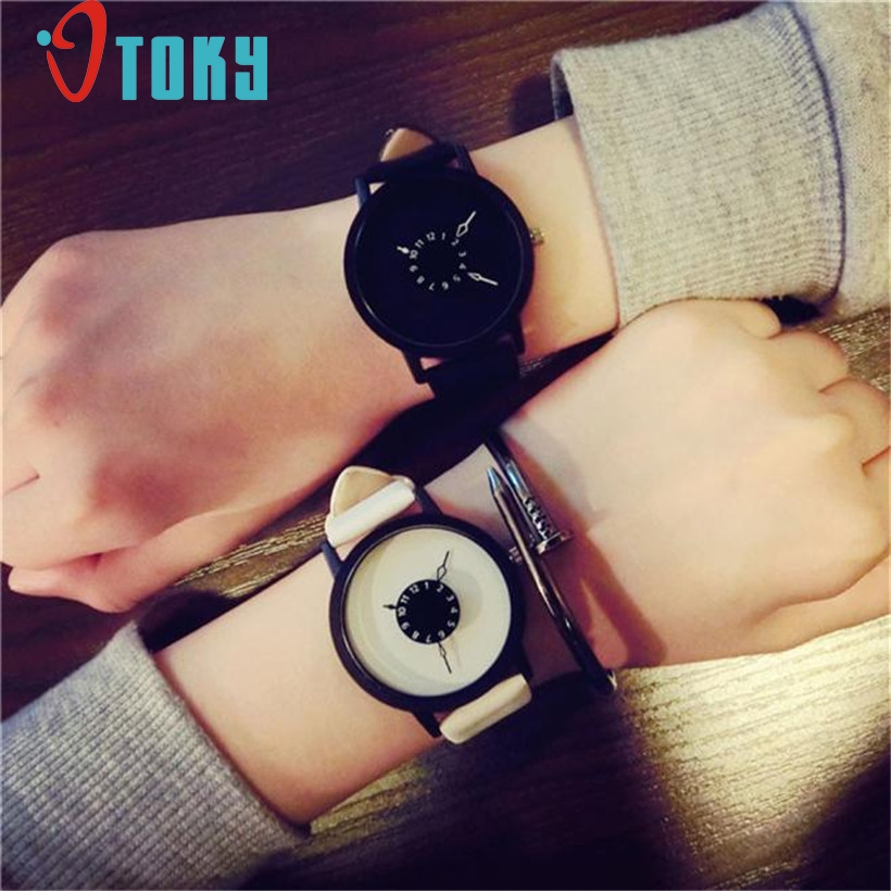 Fashion Lover's Watch Men Women Leather Band Quartz Analog Wrist Watches montre femme relogio feminino masculino #1128
