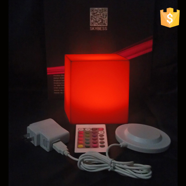 Rechargeable Outdoor waterproof furniture led cube seat 10*10*10cm free shipping 50pcs/Lot best quality waterproof outdoor led cube vc a400 furniture to eventing in 2016