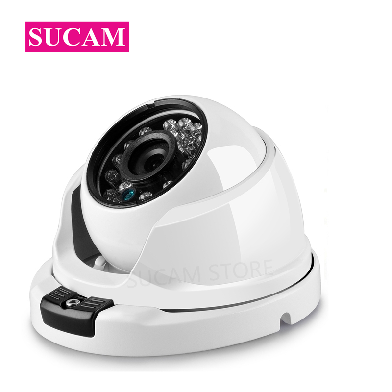 SUCAM Infrared Night Vision 4MP CCTV Dome Camera Analog Dome Vandalproof OSD Cable AHD Home Security Camera With 24 Leds Light sucam 5mp ahd cctv camera 180 degrees vision angle home security video surveillance dome infrared analog camera 25m ir distance