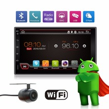 2017 map 2 Din Pure Android 6.0 Car Player Navigation Stereo Radio GPS WiFi 3G CAPACITIVE Touch Screen USB Back Camera Car PC