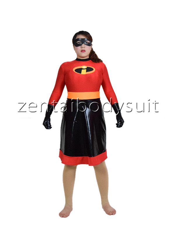 Classic Girl The Incredibles Skirt Superhero Costume Halloween Cosplay Party Prom Spandex And Metal Zentai Suit party