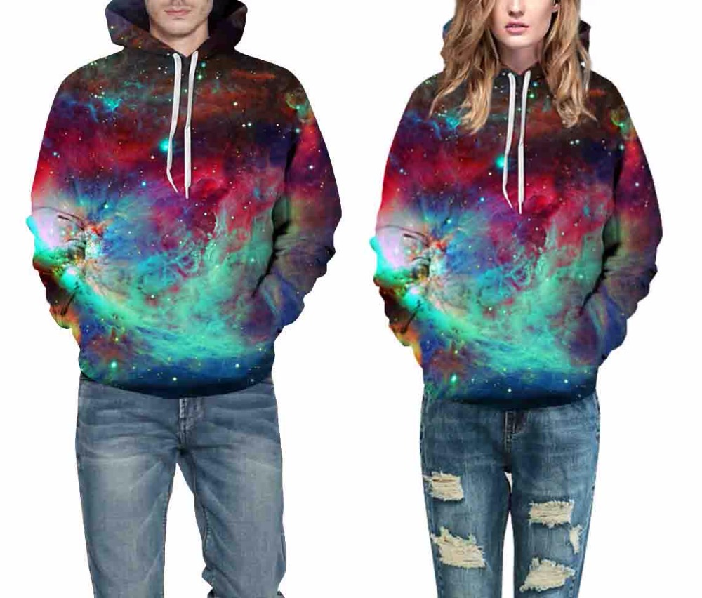 Leezeshaw Galaxy 3D цифровая печать толстовки унисекс модные толстовки с капюшоном Демисезонный пары любовник уличной пуловеры