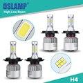 Oslamp Hi-Lo Beam H4 LED Car Headlight COB/CSP Chips 6500K 2WD 4WD Led Auto Head Light Bulbs with Built-in Fan for SUV 2pcs 9003