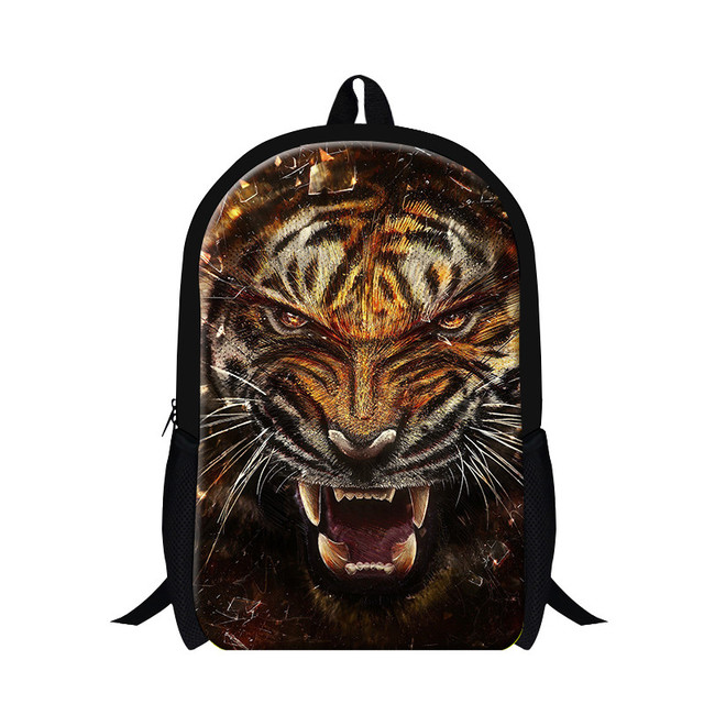 Dispalang Brand Student Kids School Bags 3D Tiger Head Printing Children  School Backpack Men's Casual Travel Shoulder Bags