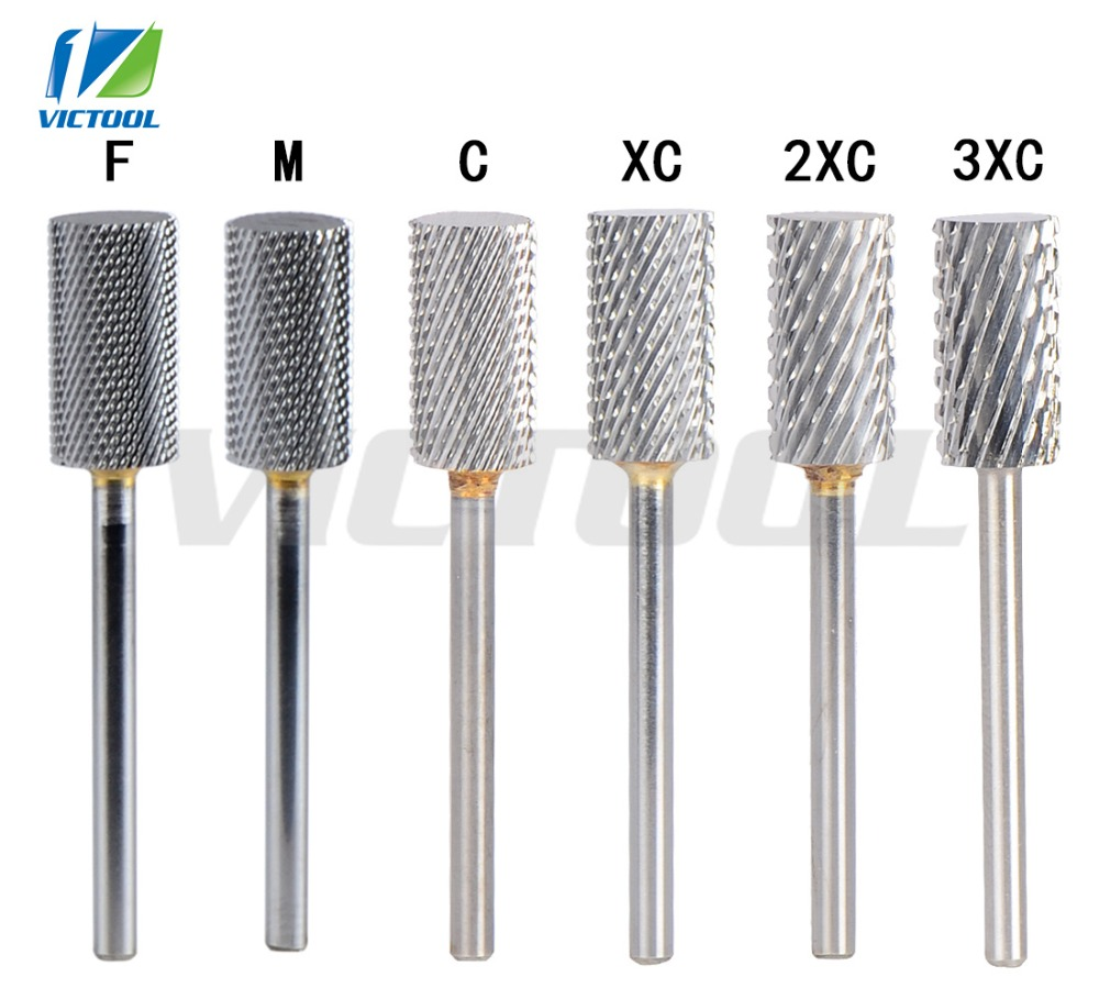 SpeTool 6 Grit Levels Tungsten Carbide Nail Drill Bit Accessory For Electric Manicure Machine Pro Nail Art Salon Tool Remove Gel