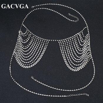 GACVGA 2019 Summer Sexy Gold Sequined Women's Bra Cropped Top Women Party Short Diamond Bra Beach Bralette Tank Crop Tops 2
