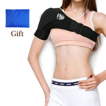 Adjustable Shoulder Brace Support Gel with Ice Pack for Hot Cold Therapy Great for Sprains,Muscle,Injuries Relief Pain Set power knee stabilizer pads lazada