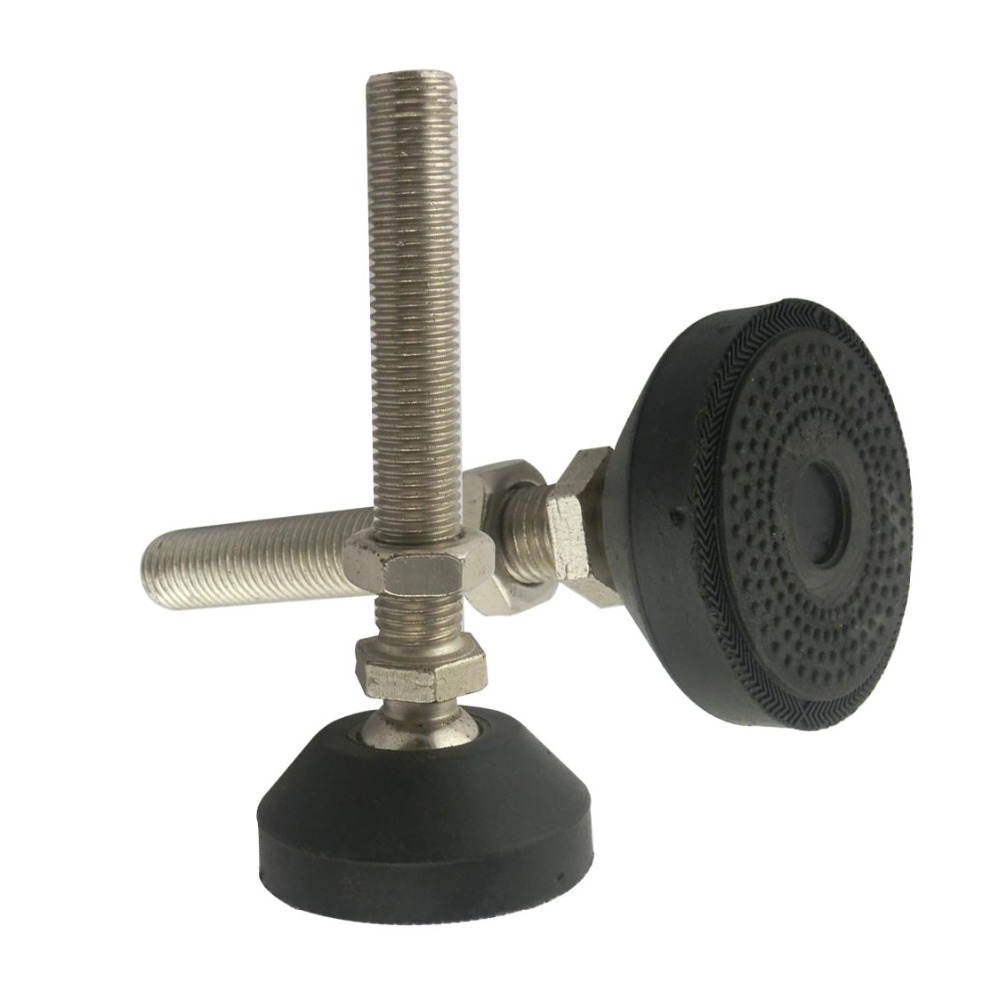 2pcs M20x150mm Adjustable Foot Cups Reinforced Nylon Base 80mm Diameter Articulated Feet M20 Thread Leveling Foot