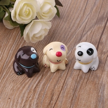 Cute Resin Dog Figure Miniature Ornament Doll Toy Dollhouse Bonsai Decor 3 Color YH-461020 cute resin bride and bridegroom toy doll