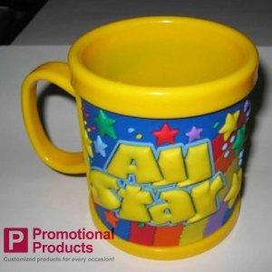 free shipping custom logo promotional products of children mug eco-friendly soft pvc mug cover