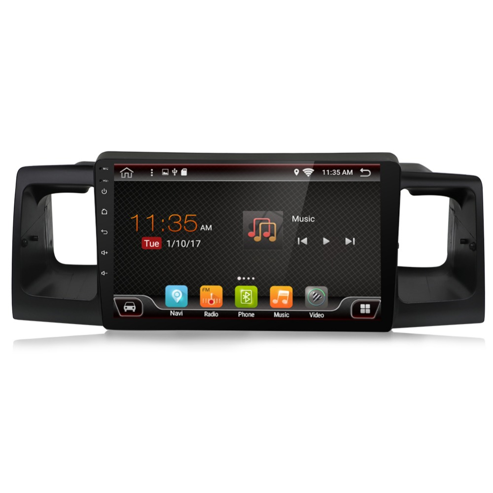 Quad Core10.2 Android6.0 Car DVD Player for Toyota Corolla EX Fortuner 2003 2016 gps navi headunit tape record