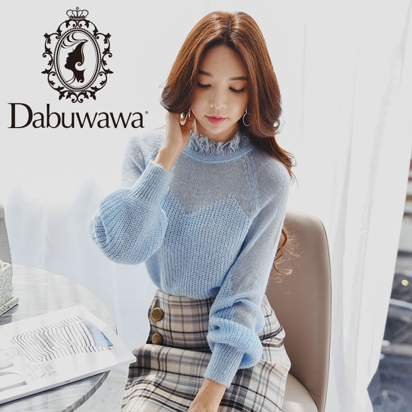 Dabuwawa Women Spring Sexy Hollow Out Knitted Sweater 2019 New Long Sleeve Loose Vintage Pullovers Top For Girls D18DKT032