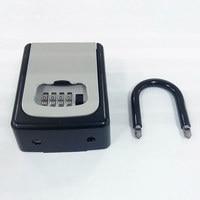 4 Digit Combination Lock Key Safe Storage Box Padlock Security Home Outdoor Supplies @JH