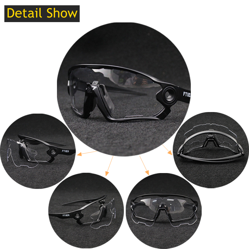 Image 5 - 2019 Summer Sunglasses Photochromic Cycling Glasses Sports UV400 Polarized MTB Bike Bicycle Riding TR90 Outdoor Sport EyewearCycling Eyewear   -