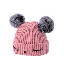 ea0f1325226 (Ship from US) ARLONEET Infant knit warm wool ball cap Pattern Hat Toddler  Kids Girl Boy Baby Infant Winter Warm Crochet Knit Hat W1207