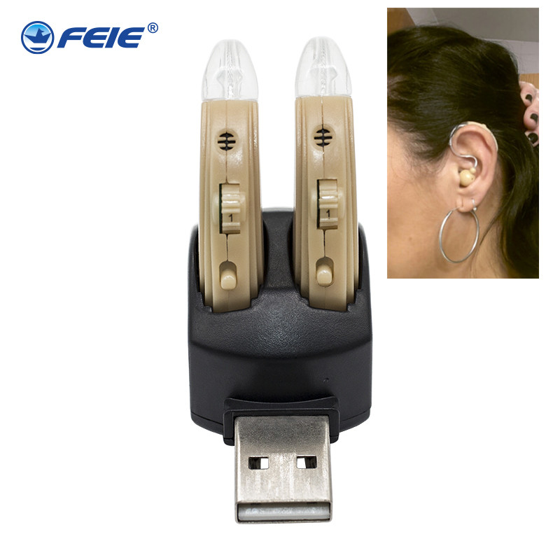 Rechargeable hearing aid deaf ear headset charging in computer S 109S Free Shipping to USA CANADA