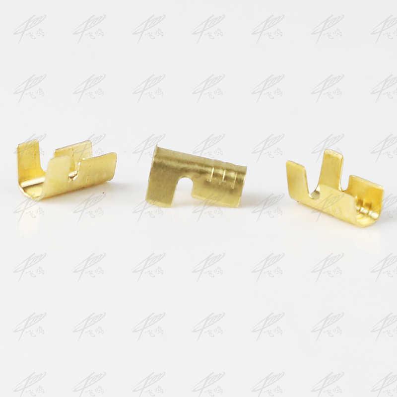 100 pçs/lote 452-1 452-2 em forma de u terminal guia frio inserções conectores/terminal conector cabo/fio cabo lug 0.2-0.75mm2