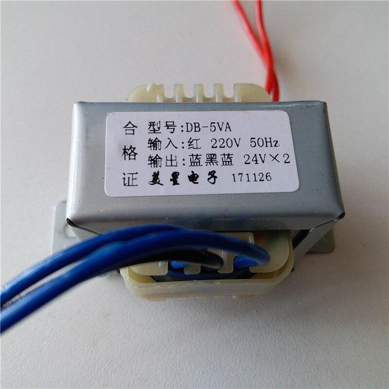 Dual 6 V 9 V 12 V 15 V 18 V 24 V 36 V Trasformatore 220 V Potenza di ingresso trasformatore 5VA EI41 5VA Trasformatore per la pre-amplificatore di bordo