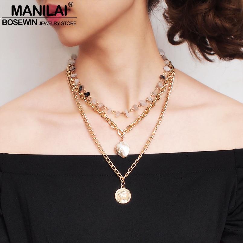 79d94e3673f2 N2 flores de Camelia marca famosa multicapa de moda perla simulada de  joyería de cadena de
