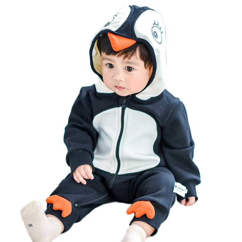 Newborn Boy Clothes Christmas Baby Rompers Long Sleeve Newborn Clothing Baby Girl Romper Cotton Baby Jumpsuit Infant Rompers penguin fleece body bebe baby rompers long sleeve roupas infantil newborn baby girl romper clothes infant clothing size 6m