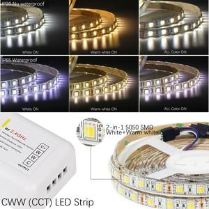Image 4 - Комплект светодиодных лент, 12 В постоянного тока, Светодиодная лента 5050 60 светодиодов/м 5 м с радиочастотным контроллером 2,4 г, источник питания 12 В, 5050 Светодиодная лента RGB RGBW RGBWW CWW