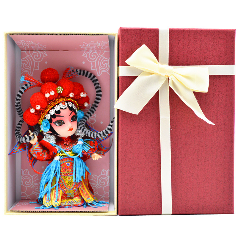 Silk doll Peking Opera doll with Chinese characteristics folk arts and crafts were presented as exquisite gifts home decoration image