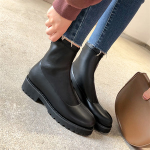 Image 5 - FEDONAS Autumn Winter Microfiber Leather Flock Women Ankle Boots Slip On Socks Boots Warm Short Boots Party Office Shoes Woman