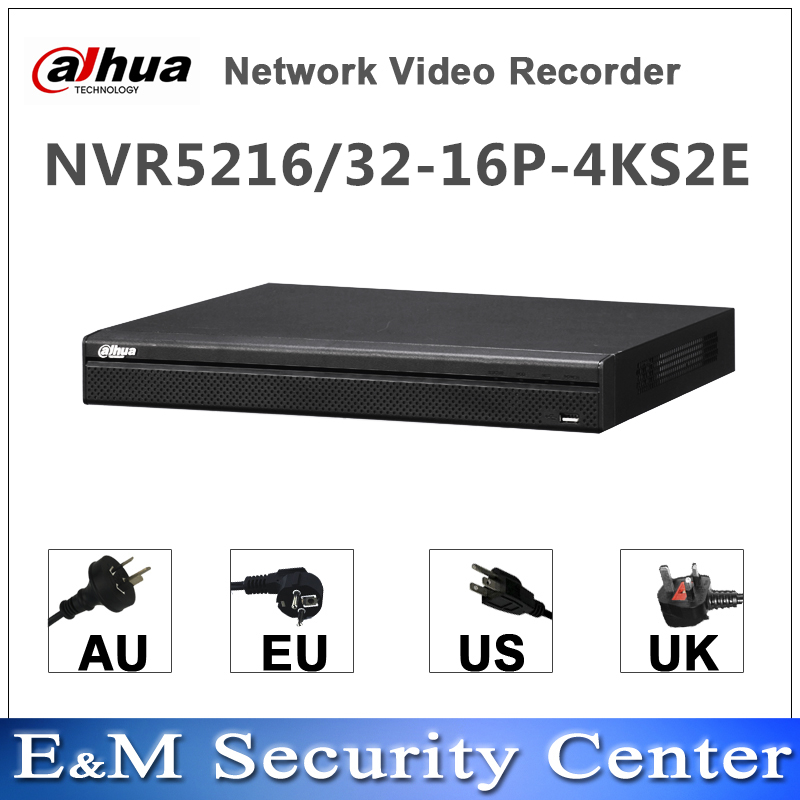 Original dahua English version NVR NVR5216 16P 4KS2E NVR5232 16P 4KS2E replace NVR5216 16P 4KS2 NVR5232