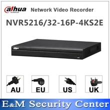 Original dahua inglês nvr NVR5216 16P 4KS2E NVR5232 16P 4KS2E 16/32 canais 16 poe nvr 4k h.265 gravador de vídeo em rede