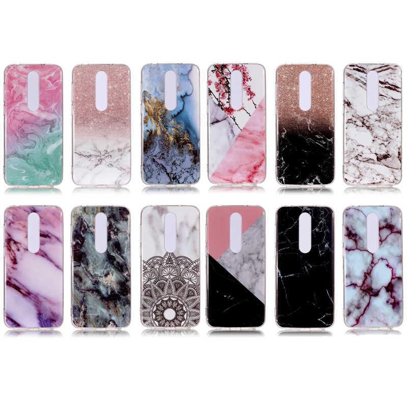Funda de teléfono de mármol de moda para Nokia 6 2018 funda de silicona suave de granito TPU para Nokia 7 Plus fundas para Nokia 6X Coque