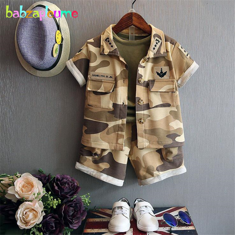 Korean Style Boys Clothes Kids Costume Camouflage Pattern coat t shirt pant 3pcs Baby Girls set Children Clothing Tracksuit A078