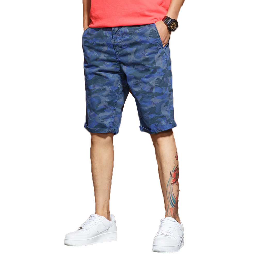 Camouflage Cargo Shorts Men 2018 Mens Casual Shorts Male Loose Work Shorts Man Military Short Pants Plus Size 28-38