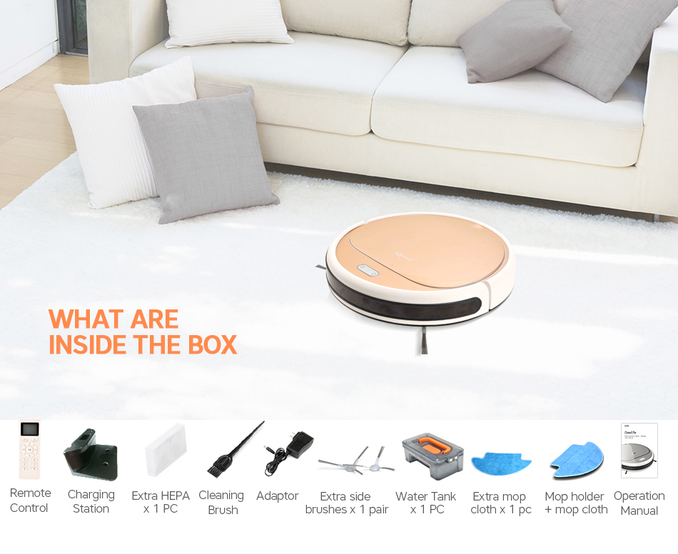 HTB1H evlRnTBKNjSZPfq6zf1XXaG ISEELIFE 1300PA Smart Robot Vacuum Cleaner 2in1 for Home Dry Wet Water Tank brushless motor Intelligent Cleaning ROBOT ASPIRADOR