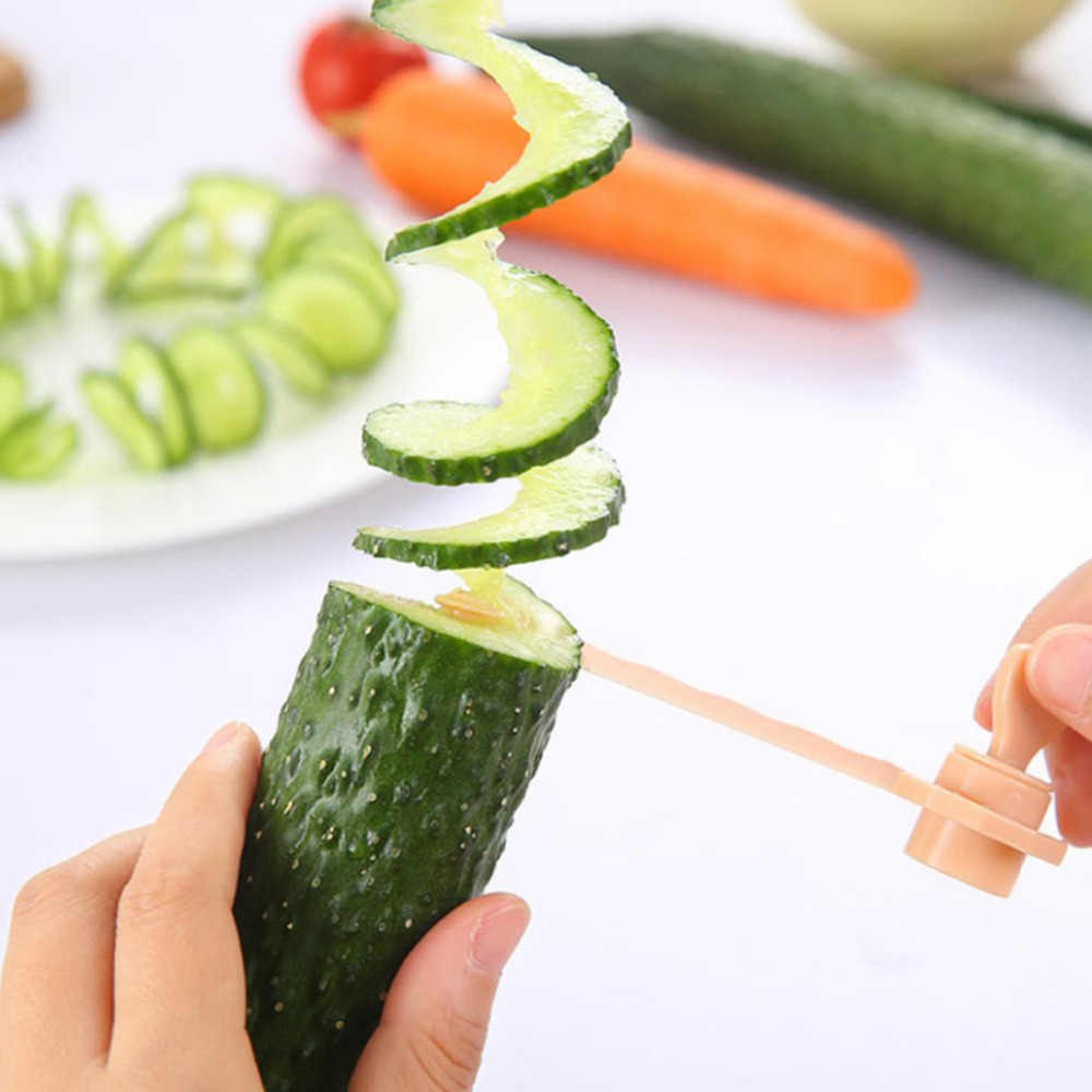 Cenoura pepino girar espiral slicer casa cozinha gadgets cortador de legumes ferramentas espiral slicer # w2