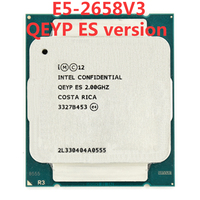 Intel Xeon сервер QEYP ES инженер образец E5 2658V3 QEYP 2,00 ГГц 30 M 105 W 12 CORE 24 потоков LGA 2011 V3 E5 2658 V3 процессор