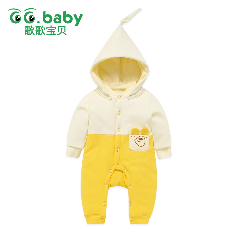Hooded Christmas Romper For Baby Boys Newborn Winter Warm Overalls Baby Boy Clothes Romper Jumpsuit Long Sleeve Girl Clothing iyeal newborn winter clothes cotton padded baby clothing long sleeve hooded animal baby girl boy romper cartoon warm jumpsuit