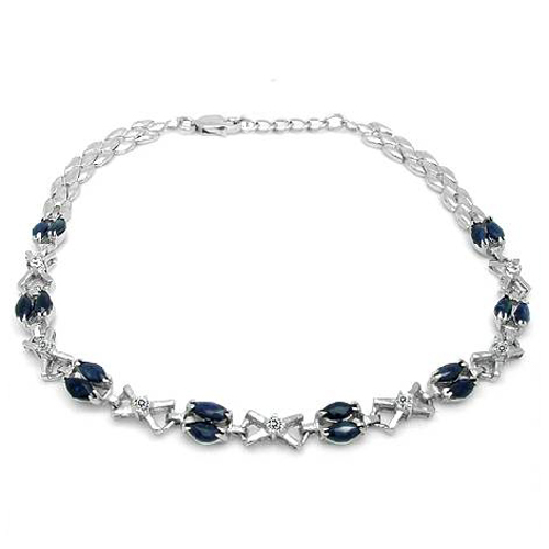2017 New Qi Xuan_Free Mail Dark Blue Stone Elegnat Bracelets_S925 Solid Silver Fashion Bracelets_Manufacturer Directly Sales nokia 230 dark silver